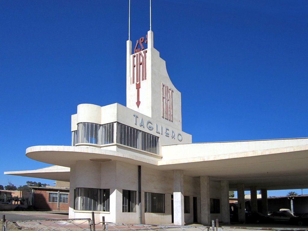 The futuristic Fiat Tagliero Building (1938) in Asmara, Eritrea, was built to resemble an aircraft.