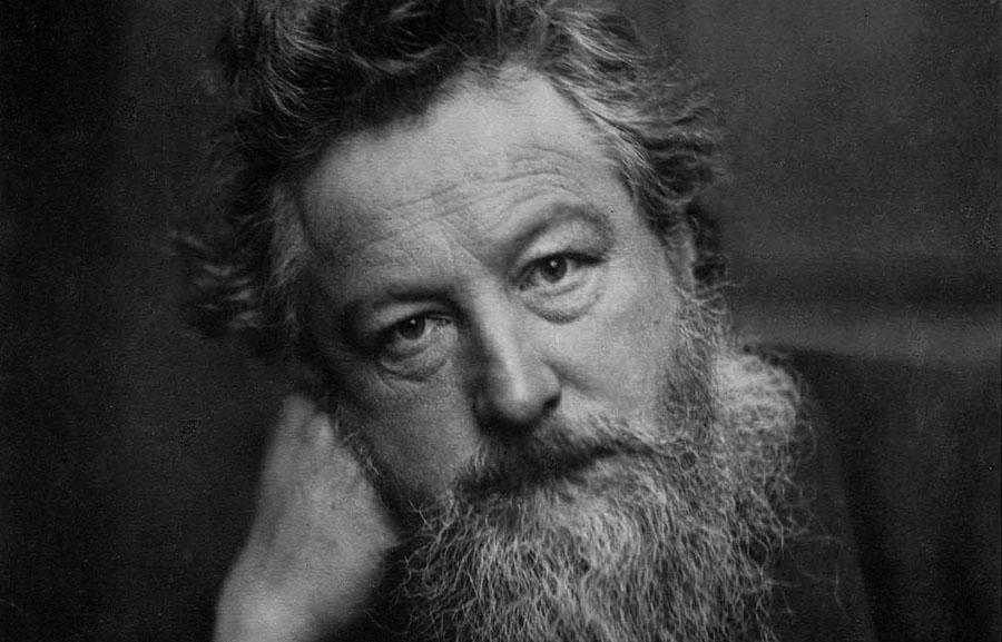 Ritratto fotografico di William Morris a 52 anni
