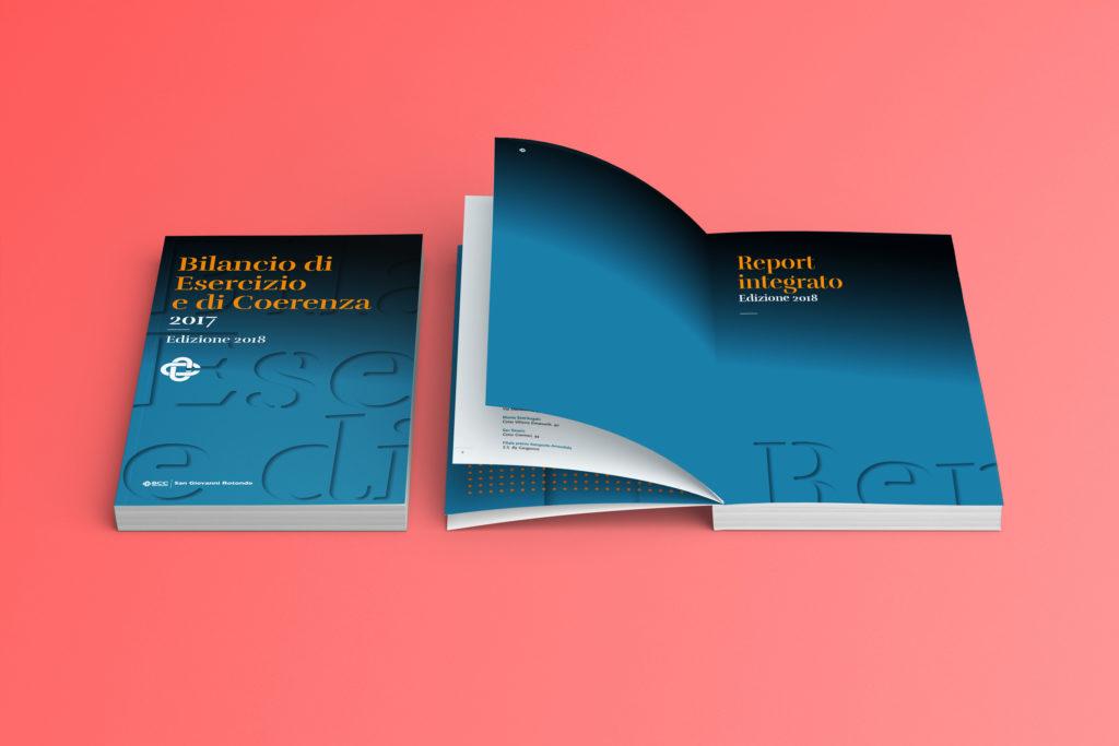 Relazione di bilancio di una banca - copertina e pagine di apertura - Mitogram