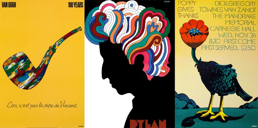 Tre poster di Milton Glaser
